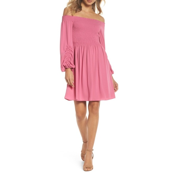Kobi Halperin Dresses & Skirts - Kobi Halperin Nina Off The Shoulder Dress in Tulip